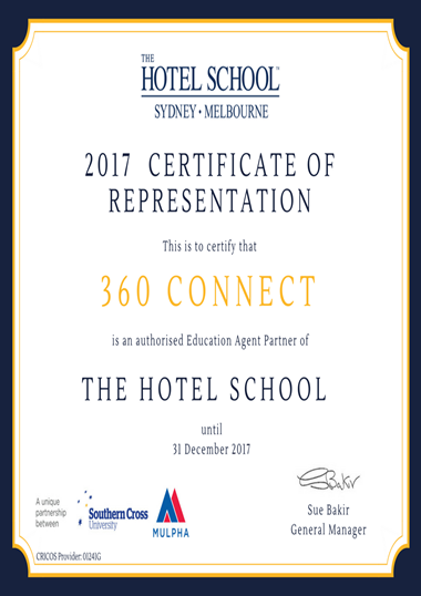 The Hotel School Sydney - Melbourne